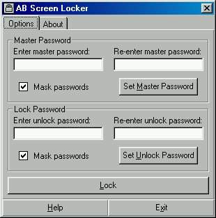 AB Screen Locker - Allows you to lock your screen